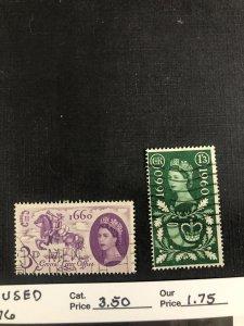 Great Britain Scott 375-376 used