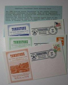 Post Office Centennial Tombstone Az 1978 Philatelic Expo Cachet Cover