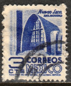 MEXICO 856 3cents 1950 Definitive wmk 279 Used F-VF, (1)