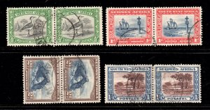 South West Africa 1931 KGV p/set (4 pairs) used CV £32