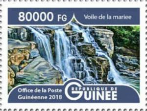 Guinea - 2019 Landscapes Bride's Veil - Stamp - GU1801local04a