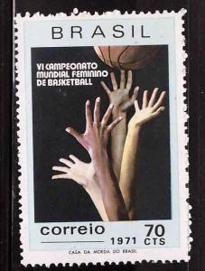 Brazil Scott 1188 MNH** Basketball stamp 1971