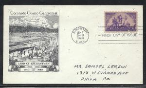 US #898-44 Coronado Aristocrats Gilbert cachet addressed