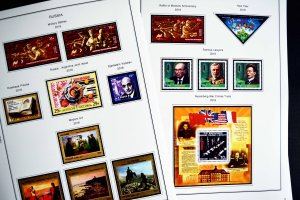 COLOR PRINTED RUSSIA 2014-2016 STAMP ALBUM PAGES (73 illustrated pages)