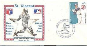 ST. VINCENT 1989 BASEBALL CARL YASTRZEMSKI BOSTON FDC