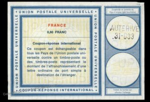 France International Reply Coupon IRC Post Office G99005