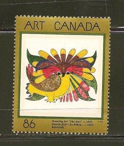 Canada 1466 Canadian Art The Owl MNH