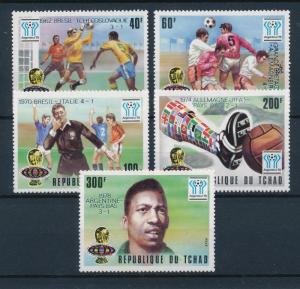 [60667] Tchad 1978 World Cup Soccer Football Overprint silver MNH