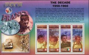 Sierra Leone MNH S/S Tour de France 100th Anniversary Bicycling