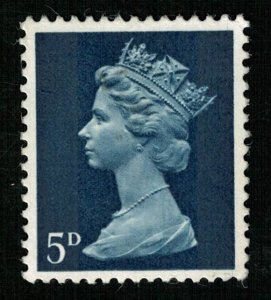 1968 Queen Elizabeth II, 5 D, Great Britain, SC #MH8 (T-4831)