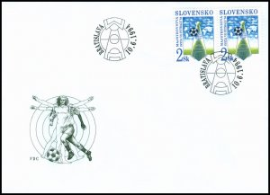 Slovakia 1994 FDC 32 World Championship in Football