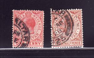Gibraltar 77-78 U King George V (A)