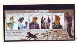 Isle of Man Sc 865 2000 Prince William 18 stamp sheet mint NH