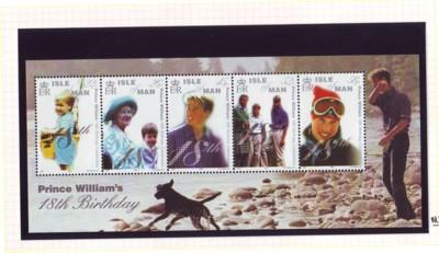 Isle of Man Sc 865 2000 Prince William 18 stamp sheet mint NH