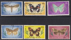 Norfolk Island, 205 / 215, Moths, Used, 1/3 Cat
