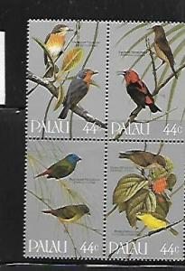 PALAU, 102A, MNH, SS, BLOCK OF 4, BIRDS