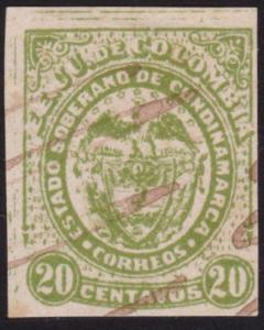 COLOMBIA - an old forgery of a classic stamp ..............................69149