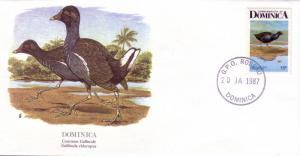 Dominica FDC SC# 993 Common Gallinule L149