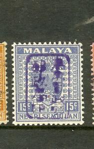 MALAYA PERAK (P1710B)JAPANESE OCCUPATION NS 15C SGJ169A  MNH