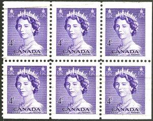 CANADA #328 USED BLOCK OF 6