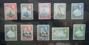 Bermuda 1938 - 52 set to 1s MM
