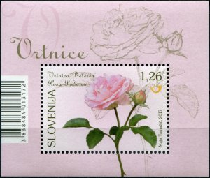 Slovenia. 2017. Flora - The Prešeren Rose (MNH OG) Souvenir Sheet