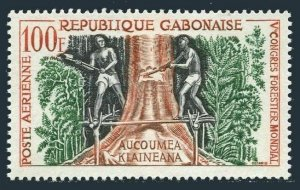 Gabon C2,MNH.Michel 155. Workmen felling tree,1960.