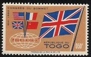 Togo 382 MLH Flags of big four (GI0118)