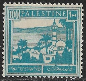 PALESTINE 1927-42 100m Dk Violet Tiberias and Sea of Galilee Pictorial Sc 80 MH