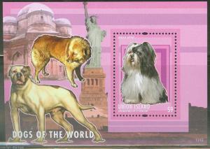 UNION ISLAND  2013  DOGS OF THE WORLD SOUVENIR SHEET   MINT NH