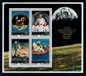 [102286] Cook Islands 1979 Space travel weltraum Apollo 11 Souvenir Sheet MNH