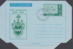 BERMUDA 1984 275th Anniv 30c aerogramme cto - Hamilton cds..................K242