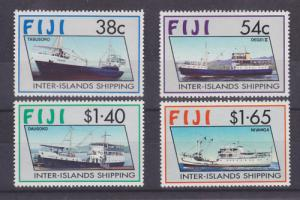 Fiji Sc 661-664 MLH. 1992 Inter-Islands Shipping cplt