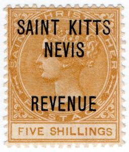 (I.B) St Kitts Revenue : Duty Stamp 5/-