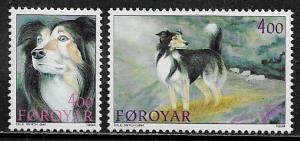Faroe Is #266-7 MNH Set - Sheepdogs
