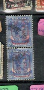 MALAYA JAPANESE OCCUPATION STRAITS (PP2612BB) KGVI 15C CHOP SGJ154  PR VFU