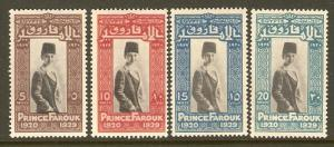 Egypt #155-8 MH Prince Farouk Birthday