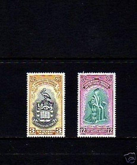 ST KITTS - 1951 - UNIVERSITY COLLEGE ISSUE - MINT - MNH - SET!