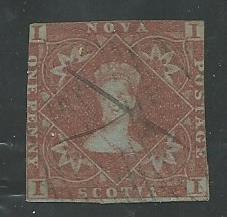 Nova Scotia 1  used   1851-57   PD