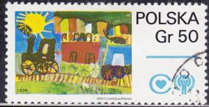 Poland 2314 Children's Paintings UN 0.50zł 1979