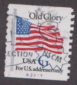 US #2890 Old Glory Used PNC Single Plate #A2213