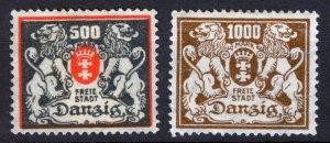 GERMANY- DANZIG Free City 1920 - 1939,