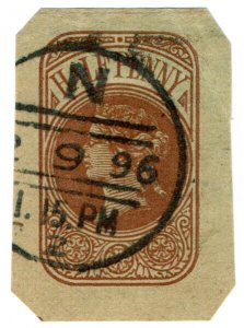 (I.B) QV Postal Stationery : Admiralty Die ½d (Engine Room)