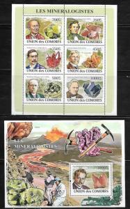 Comoro Islands 1051-52 Minerologists Mint NH