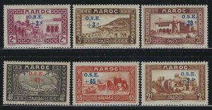 French Morocco 1938 Overprinted Charity set Sc# B13-20 mint