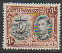 Grenada  GVI SG 160a perf 13½ x 12½  Light mounted mint