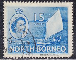 North Borneo 268 USED 1955 Prahu At Sandakan