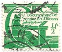 Ireland 128 (used) ½p Michael O''Clery, emerald (1944)