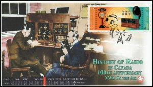 CA20-026, 2020, History of Radio, XWA, Pictorial Postmark, First Day Cover, 100t