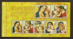 GB 2013 Christmas Mini Sheet MNH